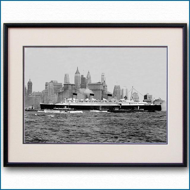 1936年 客船クイーンメリー・ニューヨーク初入港の写真 3262LL