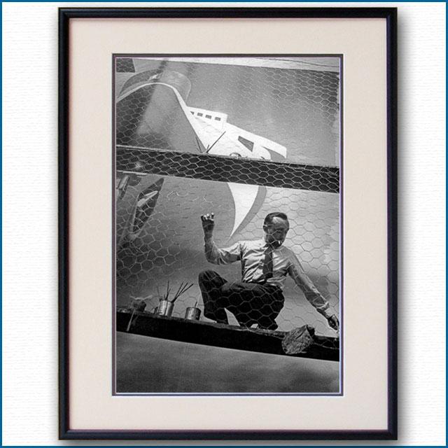 1937年 カッサンドル・パリ万博 ノルマンディー・ポスター制作中の写真 3263LL