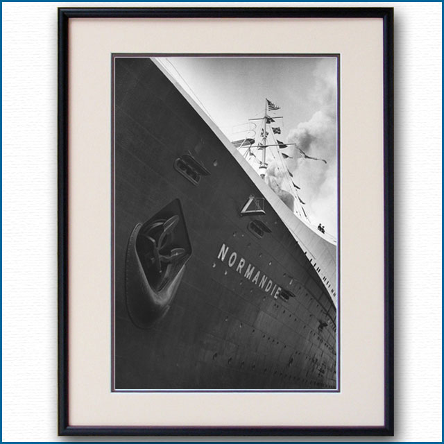 1935年 客船ノールマンディー 88番埠頭初停泊の写真 3264LL