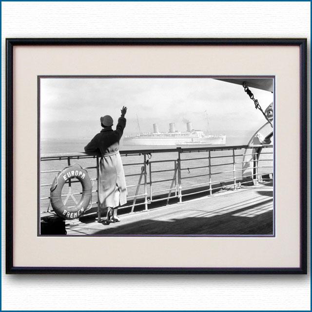 1930年代 客船オイローパ・プロムナードデッキの写真 3265LL
