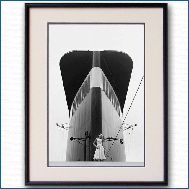 1952年 客船ユナイテッドステーツ・ファンネルの写真 3269LL