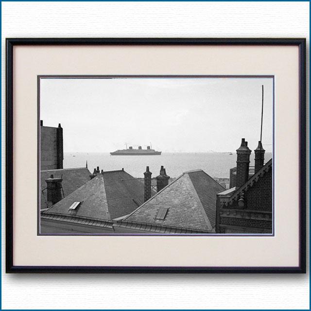 1935年頃 客船ノルマンディー・ルアーブル沖の写真 3270LL