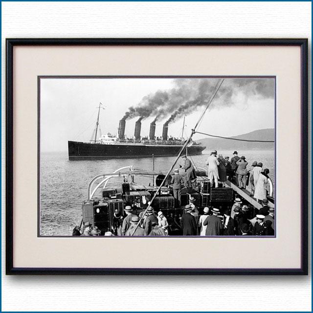 1909年 客船モーレタニア・フィッシュガード寄港の写真 3271LL