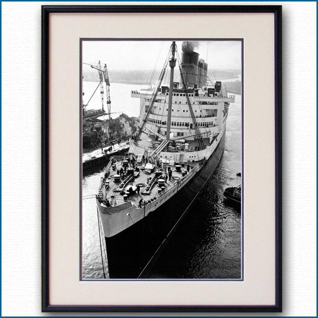 1936年 客船クイーンメリー・入渠の写真 3275LL