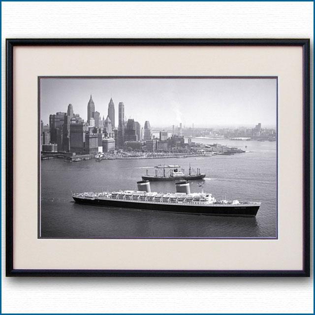 1952年 客船ユナイテッドステーツ・ロウアーマンハッタンの写真 3278LL