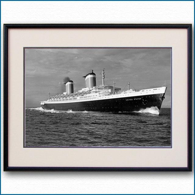1952年 客船ユナイテッドステーツ・公試運転の写真 3285LL