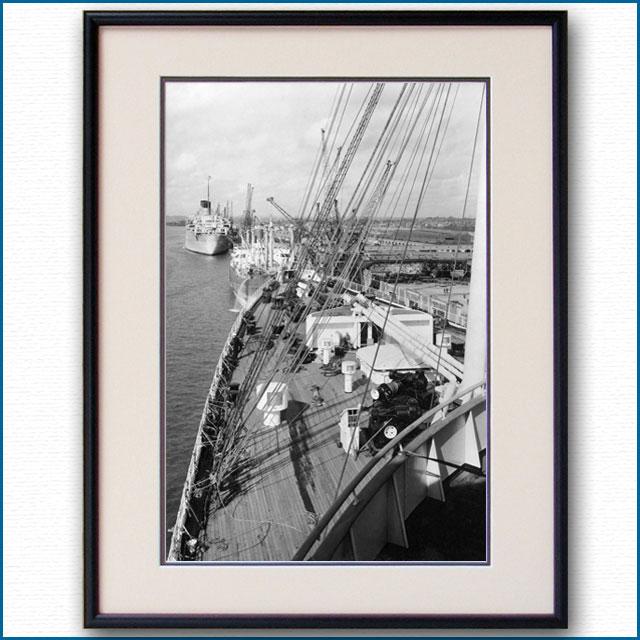 1950年代 客船クイーンエリザベス・船首楼甲板の写真 3288LL