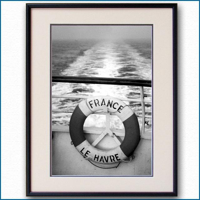 1960年代 客船フランス・救命浮環の写真 3290LL