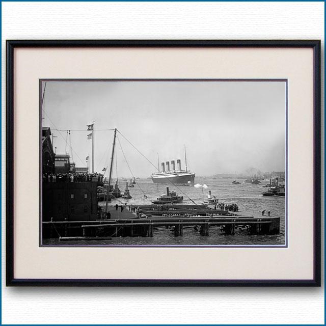 1911年 客船オリンピック・ニューヨーク初入港の写真 3298LL