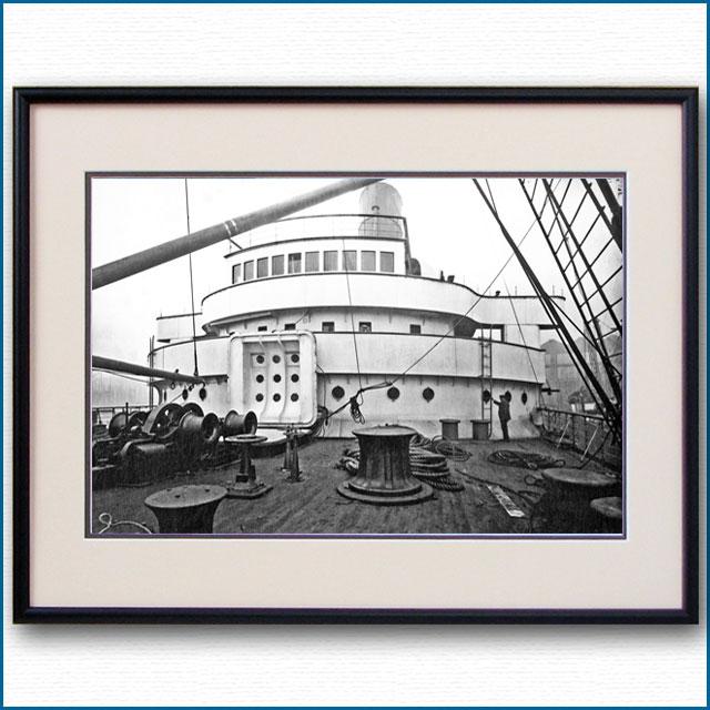 1910年頃 客船モーレタニア・ブリッジの写真 3304LL