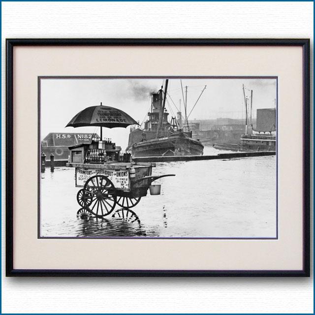 1920年代 ニューヨーク港・ホットドッグスタンドの写真 3307LL