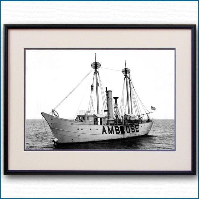 1910年頃 アンブローズ灯台船の写真 3308LL