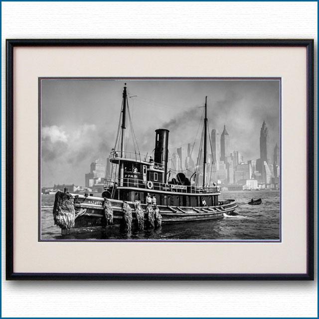 1935年 ニューヨーク港・タグボートの写真 3309LL