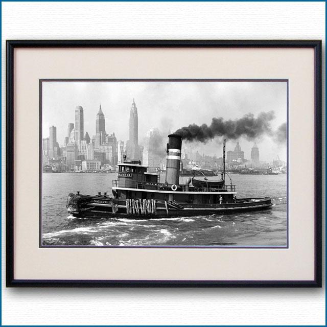 1940年 ニューヨーク港・タグボートの写真 3310LL