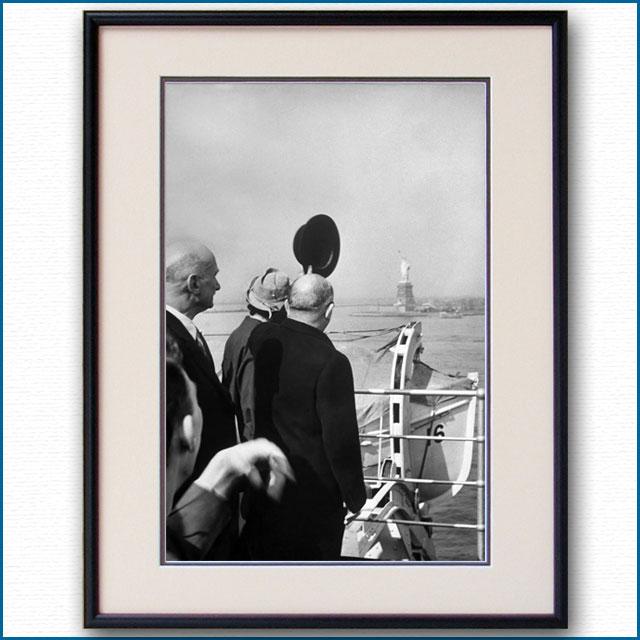 1951年 客船イル・ド・フランス オリオール大統領・ニューヨーク到着の写真 3316LL