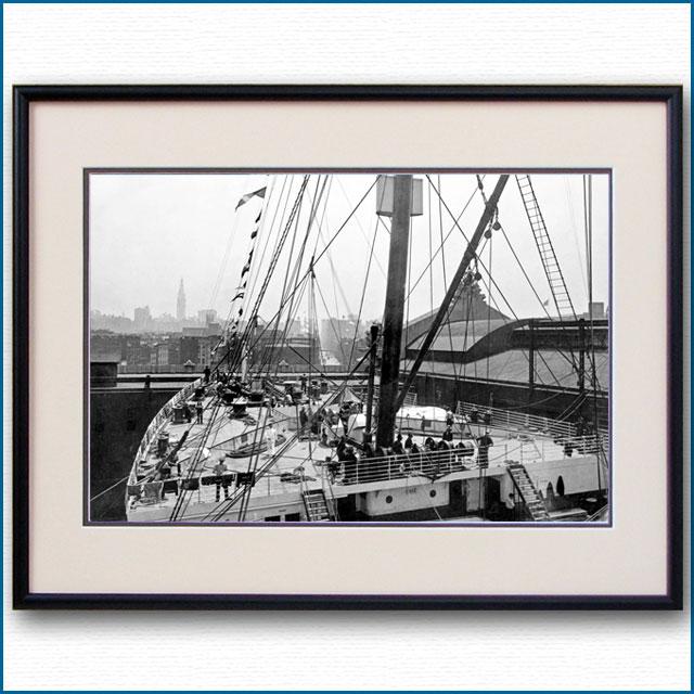 1911年 客船オリンピック・ニューヨーク59番埠頭の写真 3317LL