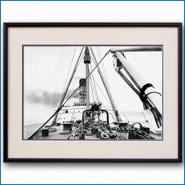 1910年頃 客船ルシタニア・ブリッジの写真 3322LL