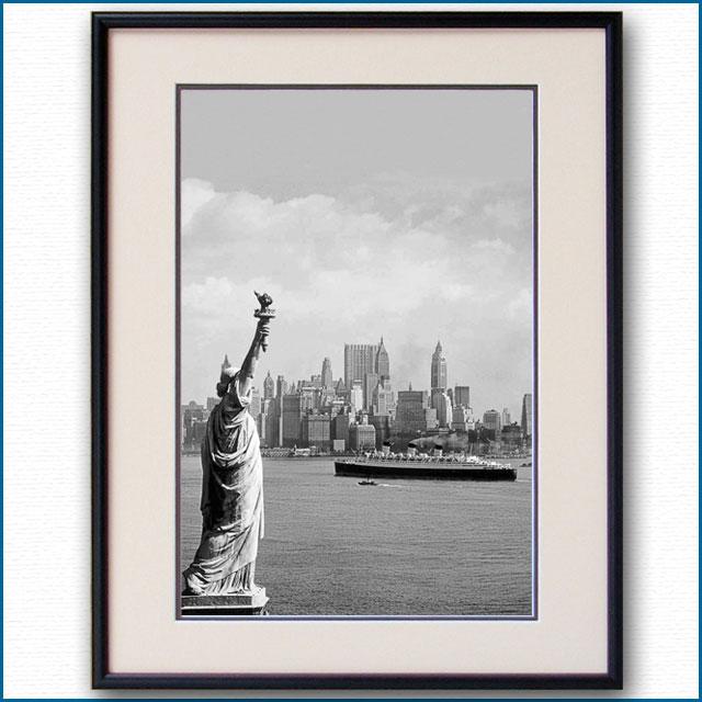 1930年代 自由の女神とクイーンメリーの写真 3324LL
