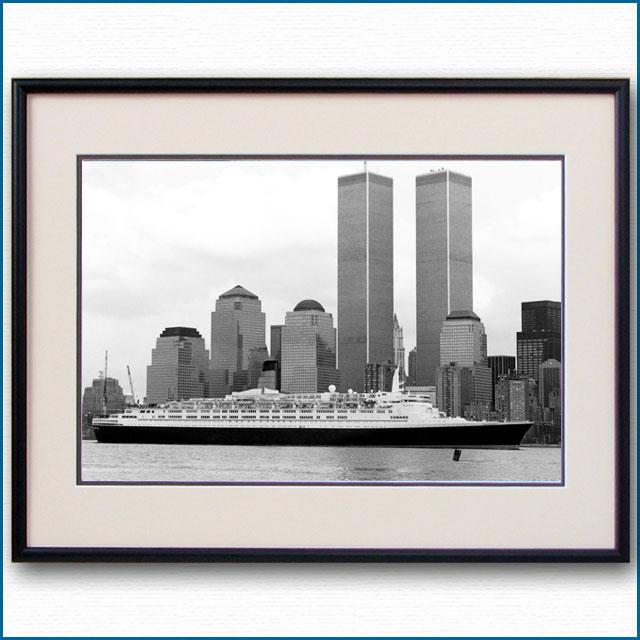 1996年 客船クイーンエリザベス2・マンハッタンの写真 3326LL