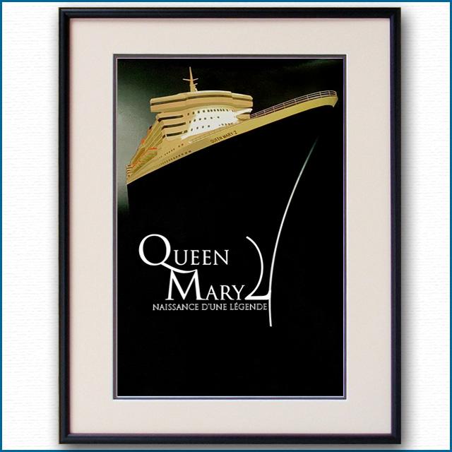 2003年 客船クイーンメリー2 竣工記念のポスター 3334LL