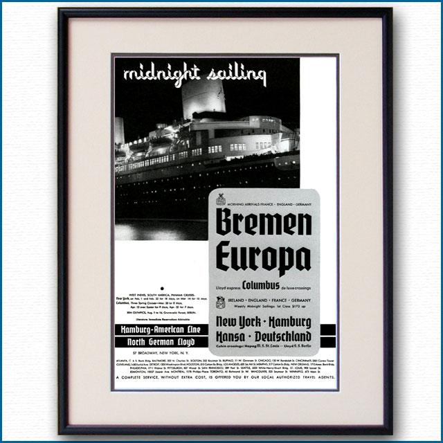 1936年 北ドイツロイド・ハパグ雑誌広告 3346LL