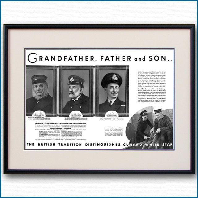 1937年 キュナードホワイトスター見開き雑誌広告 3353LL