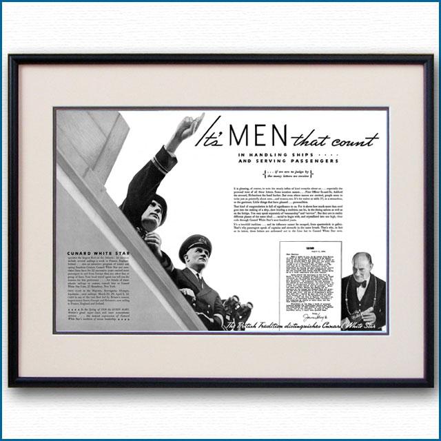 1935年 キュナードホワイトスター見開き雑誌広告 3356LL