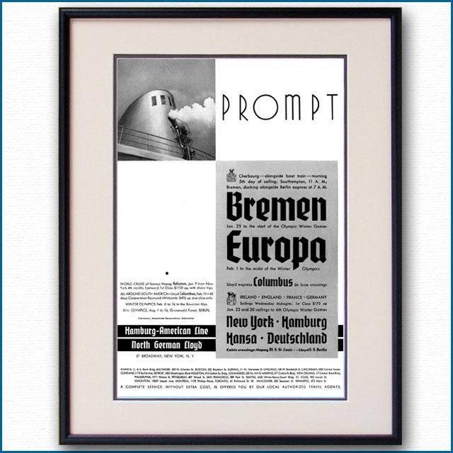1935年 北ドイツロイド・ハパグ雑誌広告 3357LL