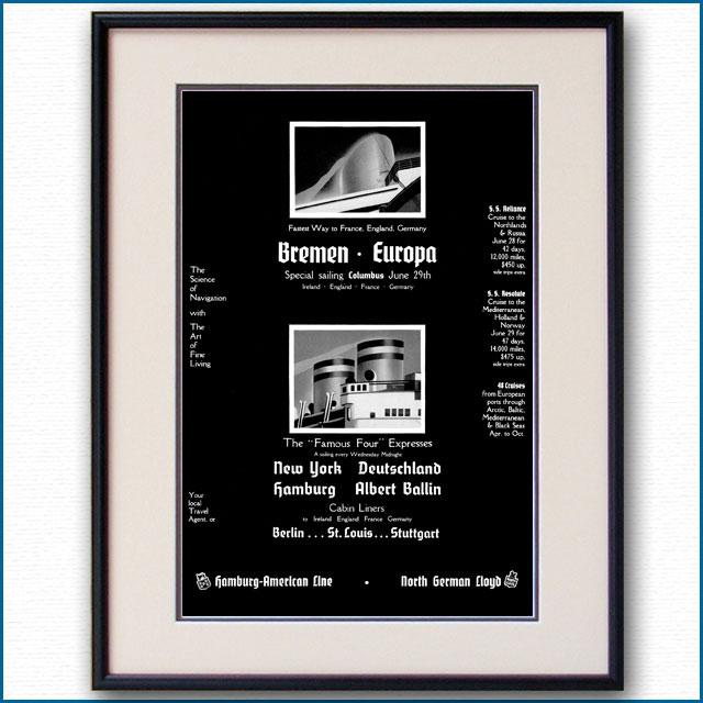 1935年 ハパグ・北ドイツロイド雑誌広告 3360LL