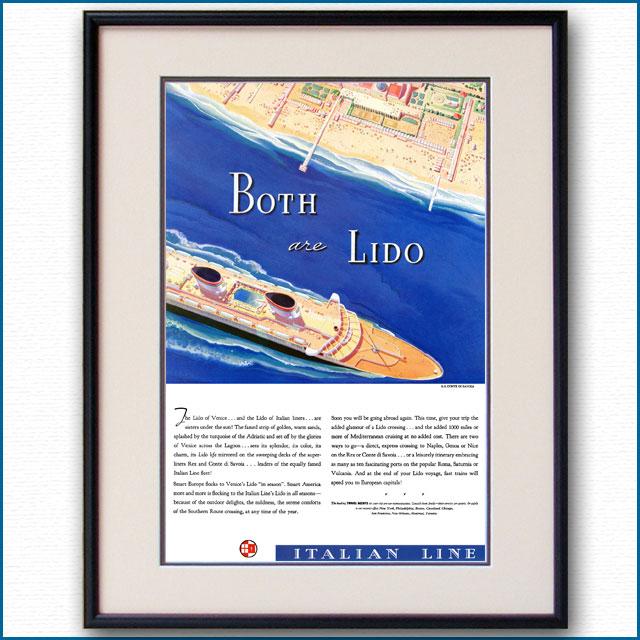 1937年 イタリアンライン・客船コンテ・ディ・サヴォア雑誌広告 3362LL
