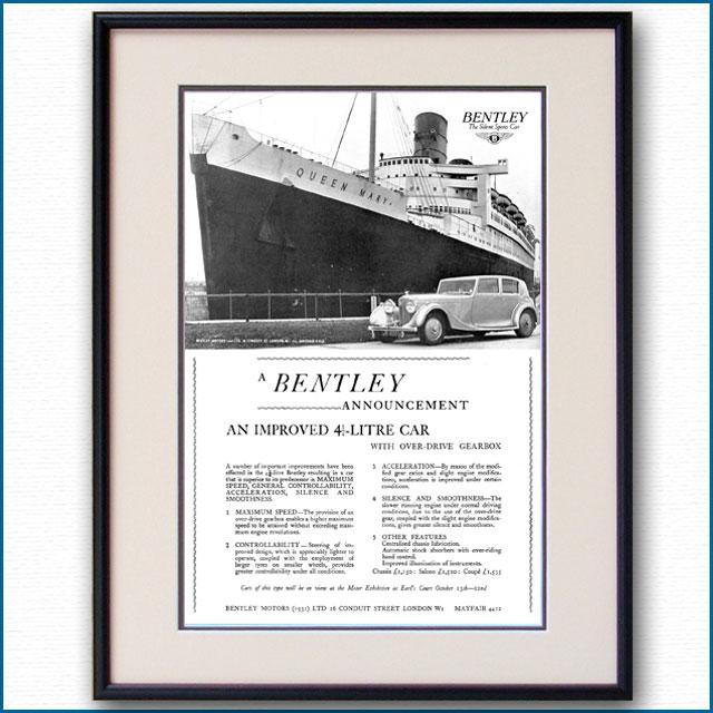 1938年 ベントレー4?リッター雑誌広告 3365LL