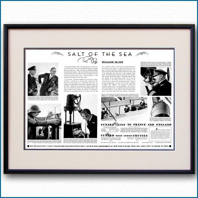 1933年 キュナード・ウィリアム・マクフィー・見開き雑誌広告 3371LL