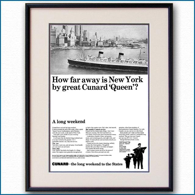 1965年 キュナードクイーン雑誌広告 3374LL