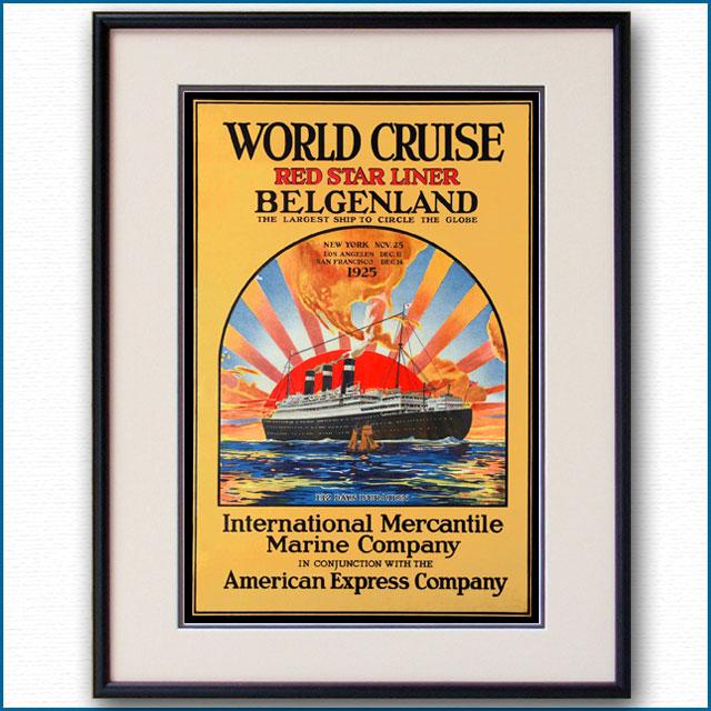 1925年 客船ベルゲンランドのポスター 3378LL