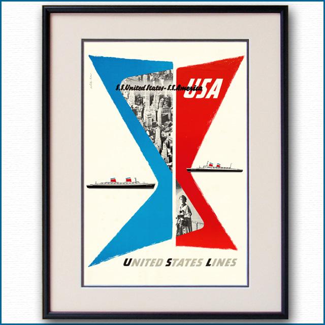 1952年 ユナイテッドステーツラインのポスター 3379LL