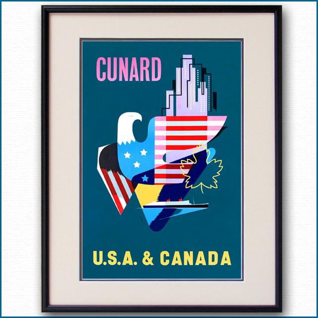 1955年 パット・ネビン キュナードのポスター 3389LL