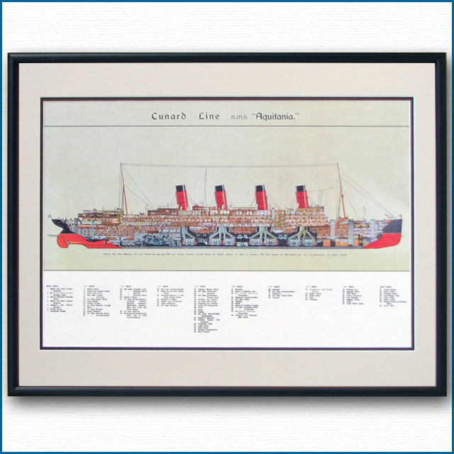 客船アキタニアの断面図 2469XL