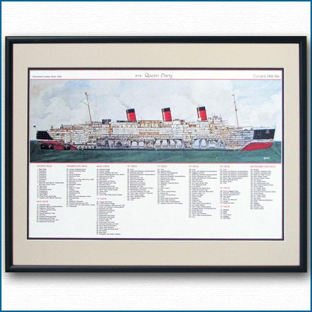 客船クイーンメリーの断面図 2474XL