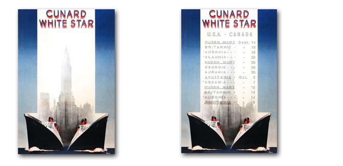 キュナードホワイトスターのポスター・ロクイン仮説バーチャル:四方海話:ポスター販売・Ocean-Note