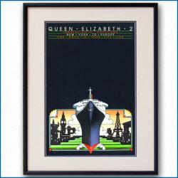 クイーンエリザベス2のポスター J. Olsen:四方海話:ポスター販売・Ocean-Note
