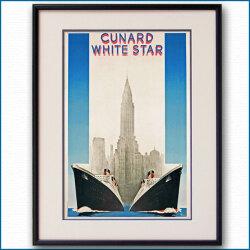 キュナードホワイトスターのポスター:四方海話:ポスター販売・Ocean-Note