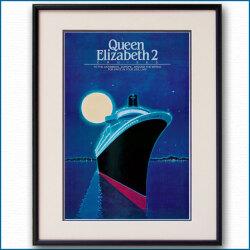 クイーンエリザベス2のポスター William A. Sloan:四方海話:ポスター販売・Ocean-Note